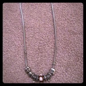 Brighton Sterling Silver Coil Charm necklace